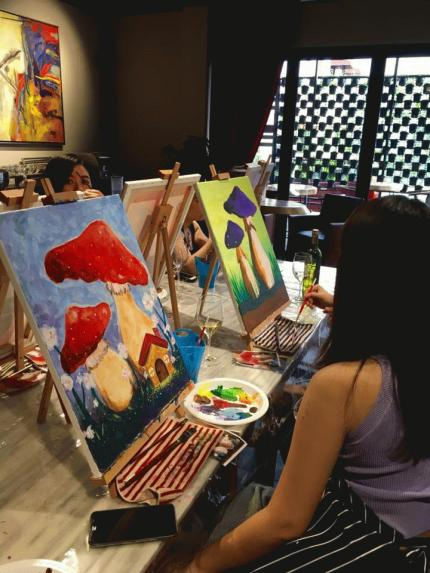 ArtsySip : Penang Paint & Sip event 13 Aug 2016   (RECURRING every Saturday)