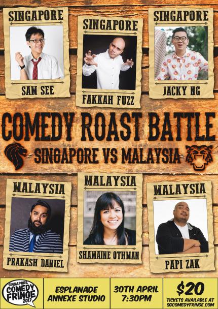Comedy Roast Battle: Singapore vs Malaysia - Singapore ...