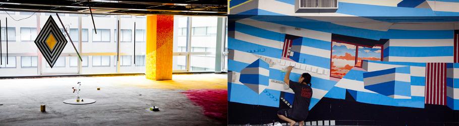 取り壊し予定のビル1棟を利用したアートプロジェクト『BCTION』