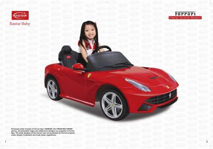 Baby Baby Ferrari F12 Electric Car Peatix