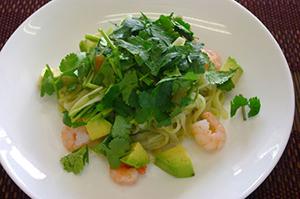 ③米麺のパクチーソース(ジェノベーゼパスタ風)